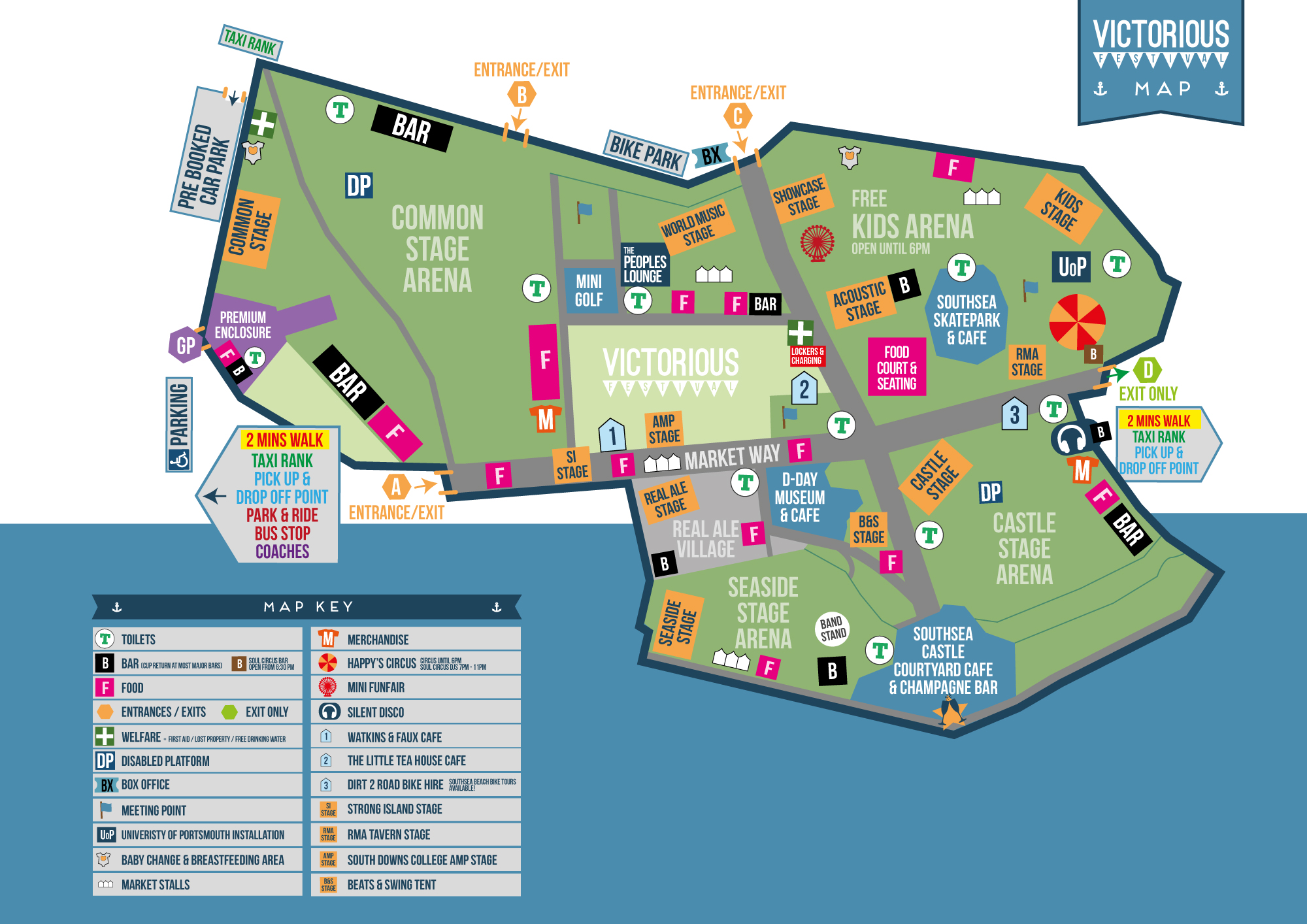 Check Out The Victorious Festival Map Victorious Festival - Check off map